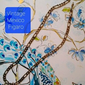 Vintage Mexico 925 Figaro Chain Necklace 53g
